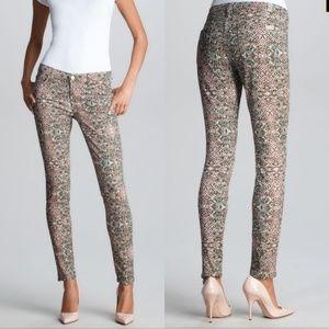 7FAM Mosaic Print Skinny Slim Ankle Jeans 27